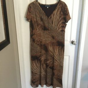 Brown Zebra stripped dress